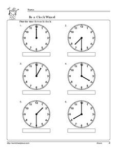 Be a Clock Wizard: 2 Worksheet
