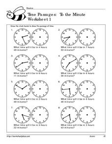 Time Passages: To the Minute #1 Worksheet