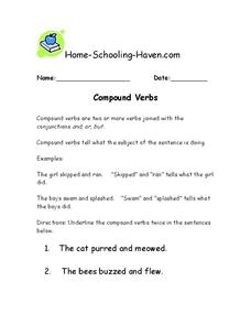 Compound Verbs Worksheet