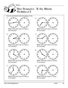 Time Passages: To the Minute Worksheet