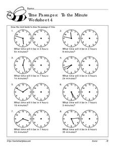 Time Passages: To the Minute 4 Worksheet