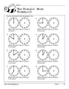 Time Passages: Hours 2 Worksheet