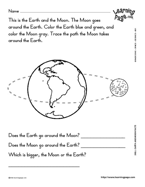 earth and moon facts worksheet for 2nd 3rd grade lesson planet. Black Bedroom Furniture Sets. Home Design Ideas