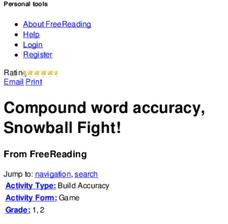 Compound Word Accuracy, Snowball Fight! Lesson Plan