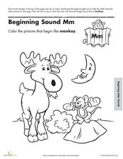 Beginning Sound M Worksheet