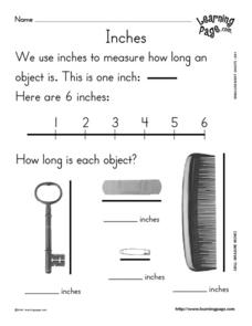 Measure Inches Worksheet
