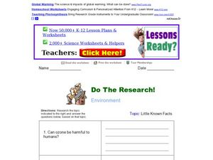 Do the Research - Environment - Little Known Facts Worksheet