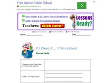 If I Was A...? Worksheet: Planet Earth Worksheet