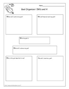 Goal Organizer: 5W's and H Worksheet
