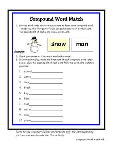 Compound Word Match Worksheet