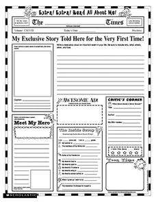 Extra! Extra! Read All About Me! Printables & Template