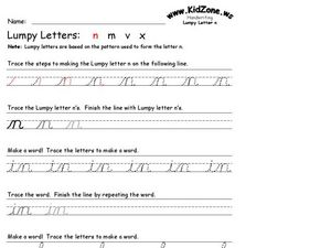 Loopy Letters: N Worksheet