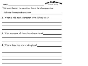 Creative Writing Story Worksheet