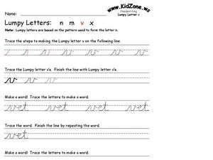 Lumpy Letters: V Worksheet
