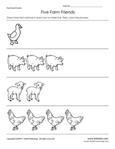 Five Farm Friends Worksheet