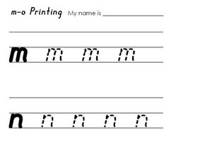 M-O Printing Worksheet