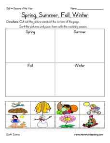 Spring, Summer, Fall, Winter Worksheet