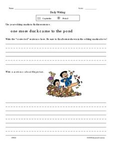 Daily Writing 2 Worksheet