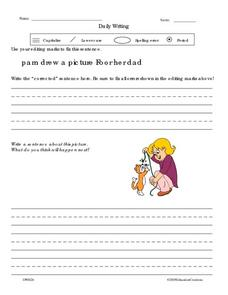 Daily Writing 5 Worksheet