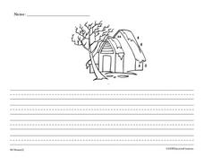 Writing Practice: A Winter Scene Worksheet