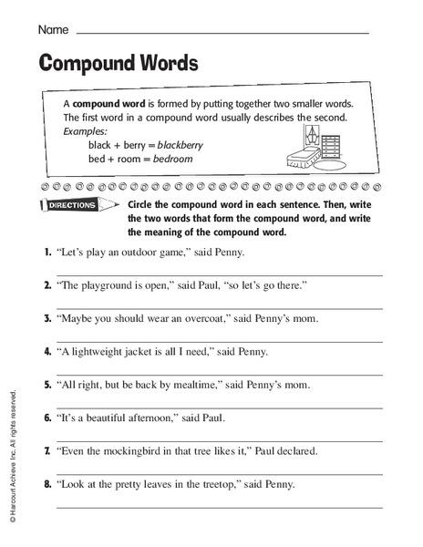 compound words worksheet for 2nd 4th grade lesson planet. Black Bedroom Furniture Sets. Home Design Ideas