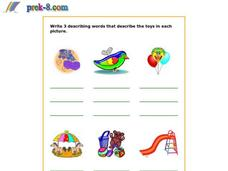 Description Words Worksheet