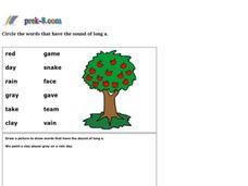 Phonics Long Vowel 1 Worksheet