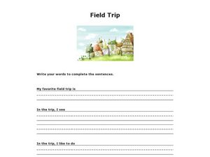 Field Trip Worksheet