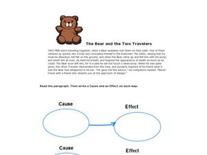 Cause and Effect Graphic Organizers Worksheet