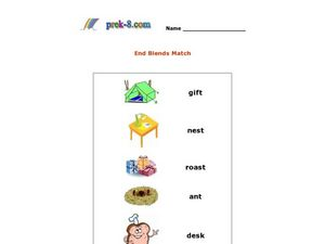 End Blends Match Worksheet