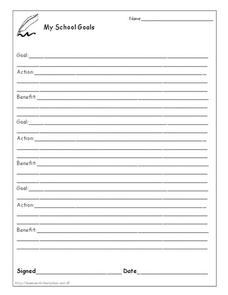 My School Goals Worksheet