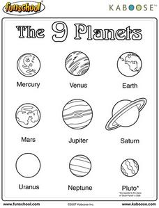 The 9 Planets Worksheet