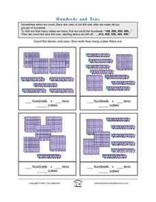 Hundreds and Tens - Count the Blocks & Rows Lesson Plan