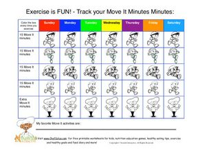 Exercise is Fun: Tracking Your Moves Worksheet