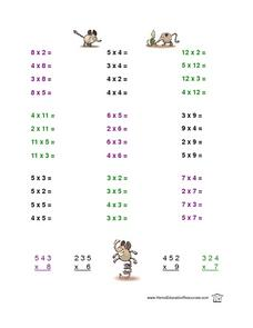 Mixed Multiplication Practice Lesson Plan