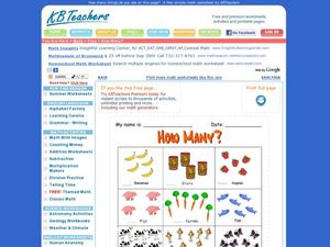 How Many? Counting Activity Worksheet