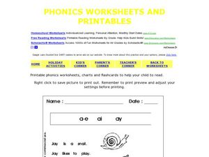 Printable Phonics Worksheet 2 Worksheet