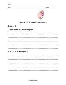 Animal Farm Chapter Questions Worksheet