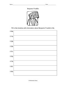 Benjamin Franklin Timeline Worksheet