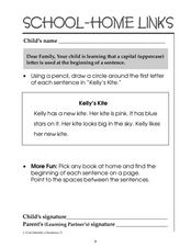 School-Home Links Uppercase Letters Worksheet