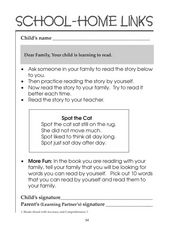 School-Home Links: Reading 2 Worksheet