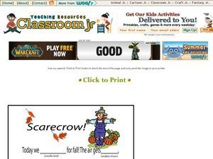 Scarecrow Mad Libs Worksheet