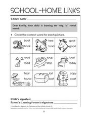 Picture-Word Recognition Worksheet