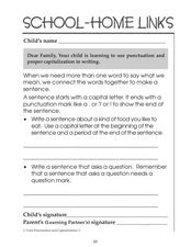 Punctuation and Proper Capitalization Worksheet