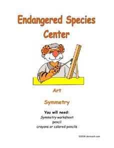 Endangered Species Center: Working with Symmetry Worksheet