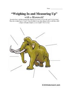Weighing In and Measuring Up Worksheet