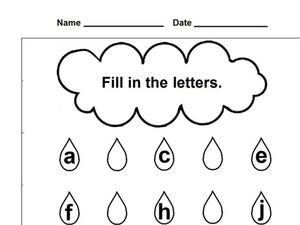 Fill in the Letters Worksheet