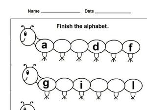 Caterpillar Alphabet Worksheet