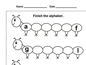 Caterpillar Alphabet 3 Worksheet