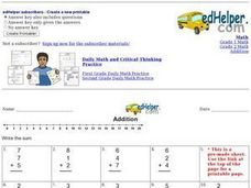 Addition: 3 Addends Worksheet